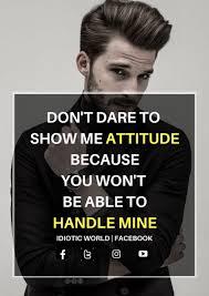 attitude insstagram captionss for boys